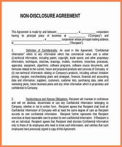 7 generic non disclosure agreement template purchase for Generic non disclosure agreement template