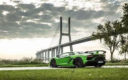 Svj Aventador Lamborghini Cars Wallpapers Rear 4k