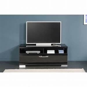 Meuble Tv Led Noir : meuble tv bas noir laque ~ Teatrodelosmanantiales.com Idées de Décoration