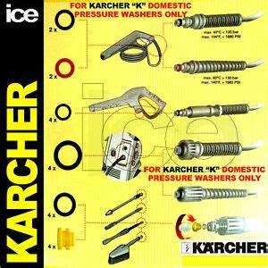 Karcher K6 95 : karcher k1 k2 k3 k4 k5 k6 k7 jet wash hose trigger lance nozzle leak o ring kit ebay ~ Farleysfitness.com Idées de Décoration