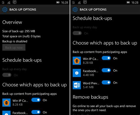 apps for windows mobile windows 10 mobile tp build 10136 includes app by app back