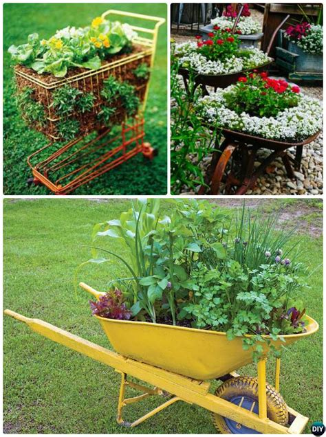 diy upcycled container gardening planters projects