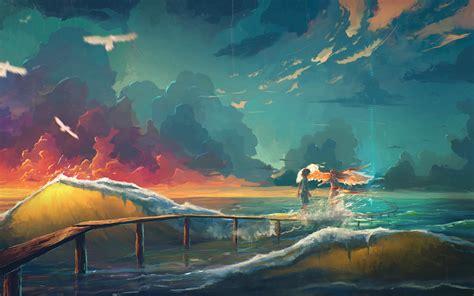 Anime Artwork Wallpaper - artwork hd wallpaper and background image 3600x2250