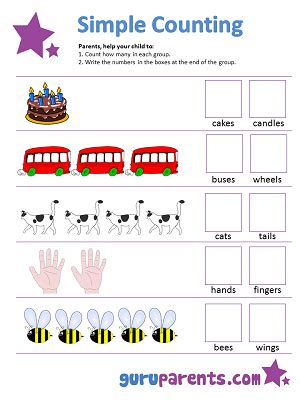 counting worksheets guruparents