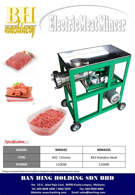 meat mincer machine ban hing holding sdn bhd