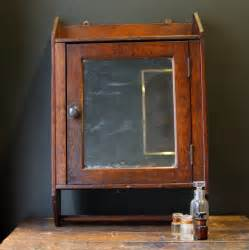 antique oak medicine cabinet with towel bar by sevenbc on etsy