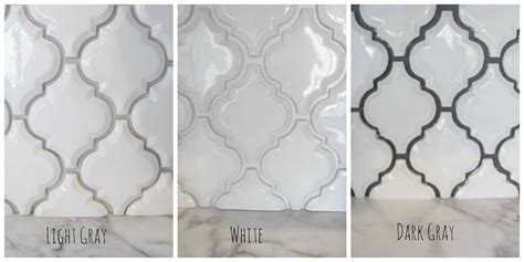 light tile with dark grout arabesque white tile with grey grout google search