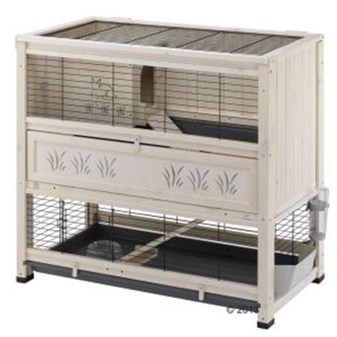 Indoor Wooden Rabbit Hutch by Ferplast Wooden Cage Cottage At Zooplus