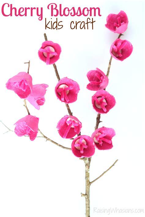 cherry blossom craft for raising whasians 375   Cherry blossom kids craft for spring