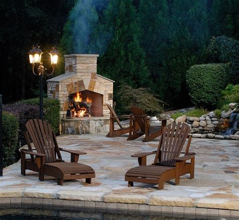 15 Outdoor Stone Fireplaces To Love  Home Design Lover