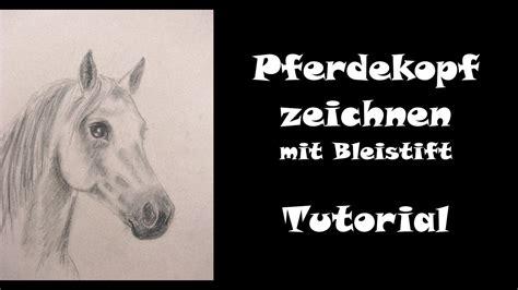 malen mit bleistift pferd zeichnen lernen mit bleistift pferdekopf teil 1 ohne farbe
