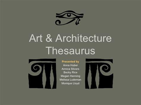 art  architecture thesaurus