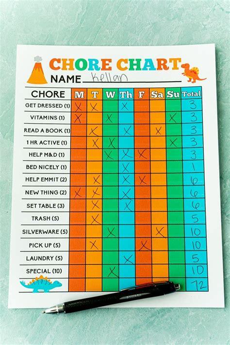 printable chore charts  kids  printable