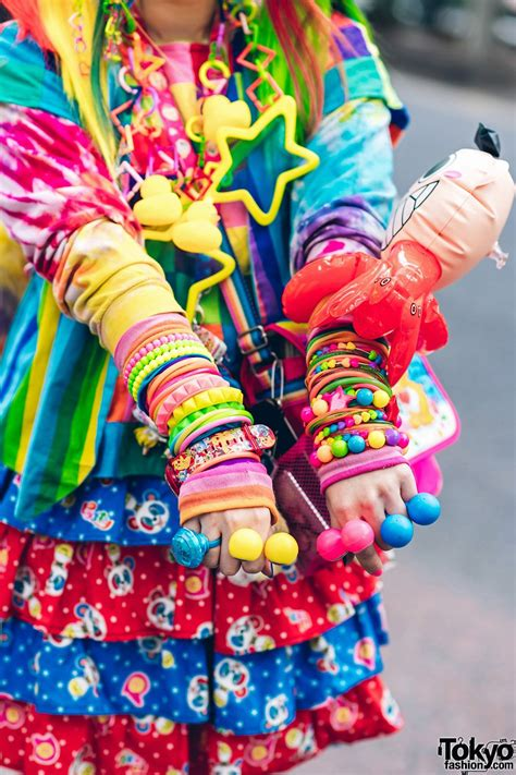 rainbow decora style  harajuku  handmade clothing tiered skirt tomoe shinohara doll furry