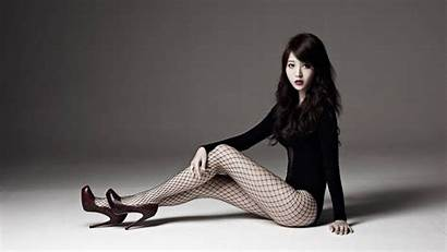 Asian Fishnet Heels Tights Fishnets Leg Woman