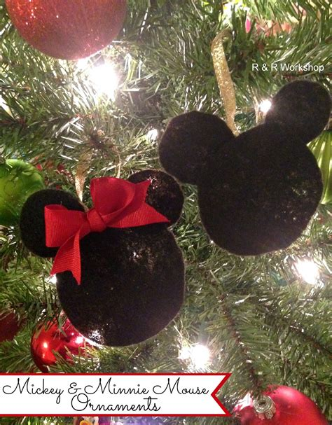 mickey and minnie mouse ornaments r r workshop lines