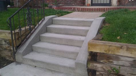 Unique Cement Stairs #13 Concrete Steps Newsonairorg