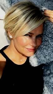 Coupe Courte Femme Cheveux Gris : coiffure courte 2019 femme 50 ans ~ Melissatoandfro.com Idées de Décoration