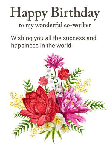 gorgeous flower happy birthday card   worker