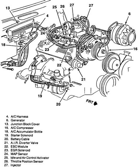 1997 S10 Engine Diagram by 1997 Chevy S10 4 3 Engine Diagram Wiring Diagram For Free