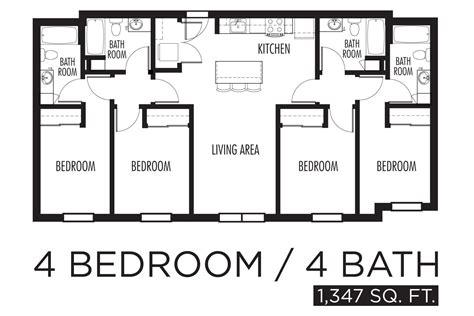 4 bedroom floor plan 4 bedroom apartment floor plan ideas 4 bedroom apartments