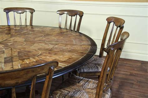 10 person round dining table large round walnut dining room table with leaves seats 6