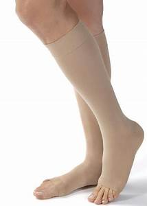 Jobst Thigh High Compression Size Chart Jobst Opaque Open Toe Knee High Compression