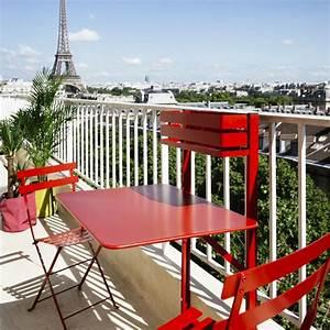 Table De Balcon Pliante : table de balcon pliante fermob bistro acier l77 cm piment ~ Melissatoandfro.com Idées de Décoration