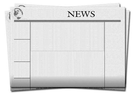 blank newspaper front page template blank newspaper