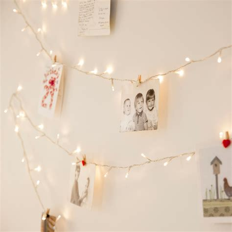 100 warm white led fairy lights on clear cable