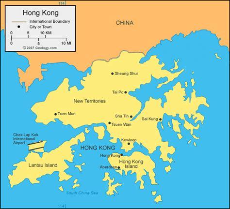 hong kong map  satellite image