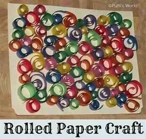 Rolled Paper Strips Kids Crafts ~ Putti's World -kids