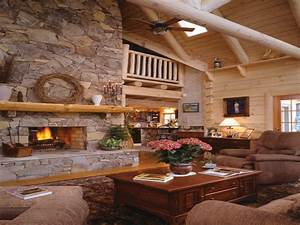Rustic Fireplace Log Cabin Sitka Rustic Country Log Home