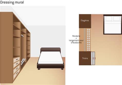 plan chambre salle de bain dressing plan de dressing conseils et exemples ooreka