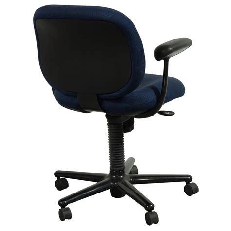 herman miller ergon used mid back task chair blue leaf