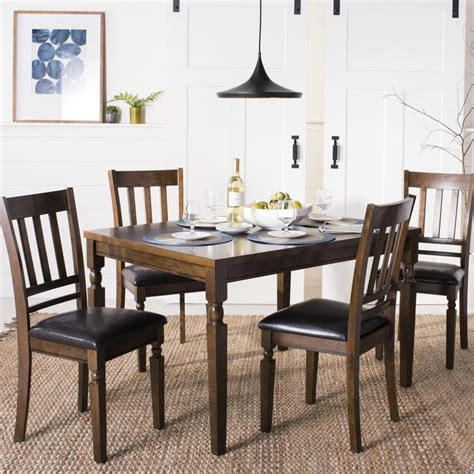 Safavieh Dining Table by Safavieh Kodiak Light Oak Dining Set With Dining Table At
