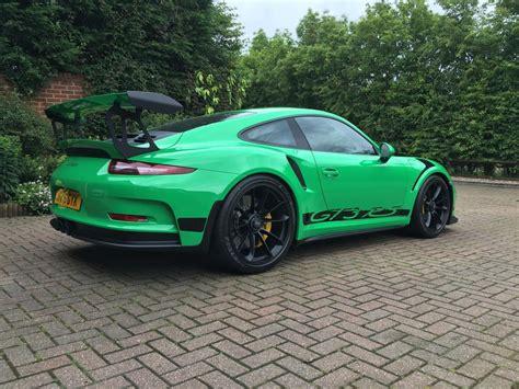green porsche 911 2016 rs green porsche 911 gt3 rs for sale at 321 000 in