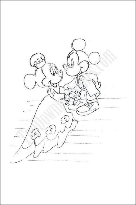 disney wedding coloring page kids party fun activity favor