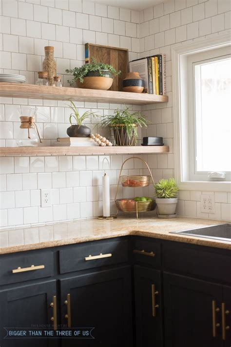 Kitchen Open Shelves Images kitchen reveal with cabinets and open shelving mid
