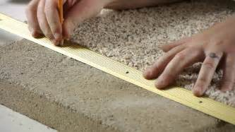 how to install carpet transition trim between concrete