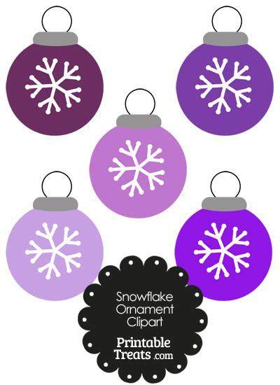 purple snowflake ornament clipart  images