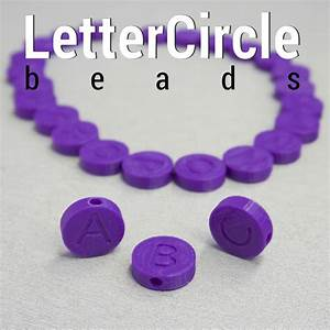 3dshook lettercircle beads With circle letter beads