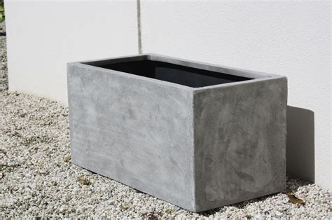 Pflanzkübel Eckig Beton by Pflanzk 252 Bel Pflanztrog Fiberglas Quot Maxi Quot Beton Design