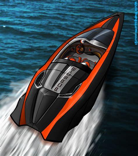 Porsche Boat by Porsche Speed Boat Concept Design Rendering Water Sports