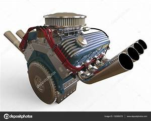 Hot Rod V8 Engine 3d Render  U2014 Stock Photo  U00a9 Gorbovoi81