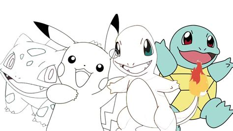 Pokemon ( Pikachu Charmander Bulbasaur Squirtle
