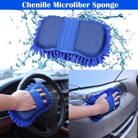 car washing sponge glove microfiber chenille sponge washer