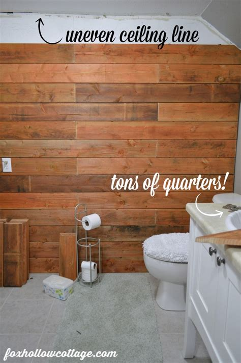 fence board planked wall   fox hollow cottage