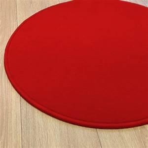 tapis rond rouge modena par vorwerk With grand tapis rond