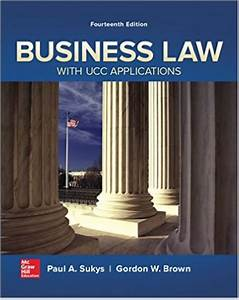 Test Bank For Business Law With Ucc Applications  14th E